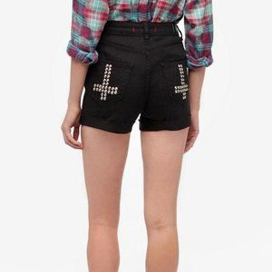 BDG High Rise Studded Cheeky Shorts Size 28